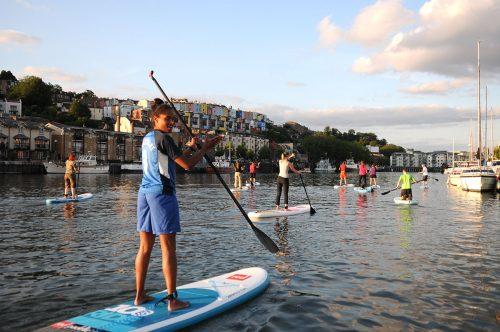 Paddleboarding in Bristol may bank holiday activity
