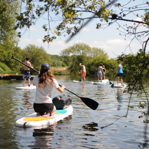 Stand up paddleboarding at RunFestRun festival