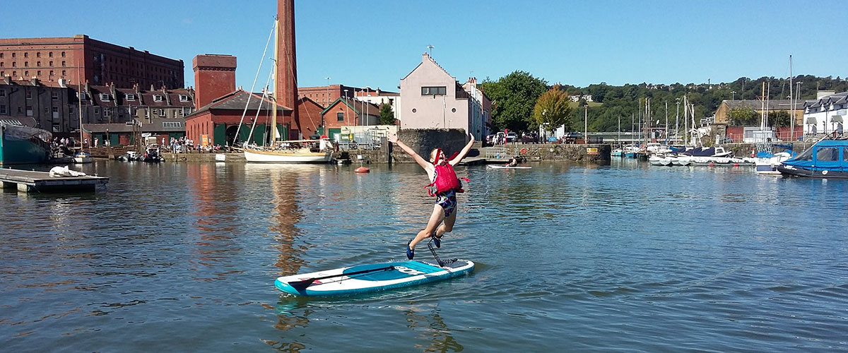 Stand up paddleboarding hen do