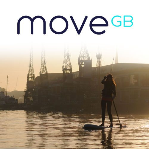 Move GB stand up paddleboading sessions with SUP Bristol
